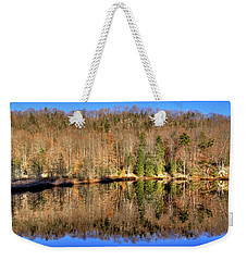Weekender Tote Bag featuring the photograph Pond Reflections by David Patterson