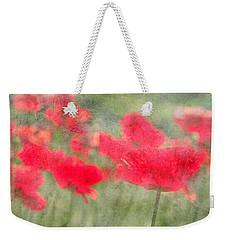 Poppies Weekender Tote Bag by Catherine Alfidi