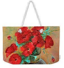 Poppies  Weekender Tote Bag by Jasna Dragun
