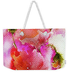 Weekender Tote Bag featuring the painting Poppy Garden by Linde Townsend