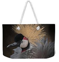 Portrait Of A Crowned Crane Weekender Tote Bag by Ernie Echols