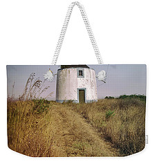 Weekender Tote Bag featuring the photograph Portuguese Windmill by Carlos Caetano