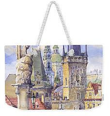 Prague Charles Bridge Weekender Tote Bag