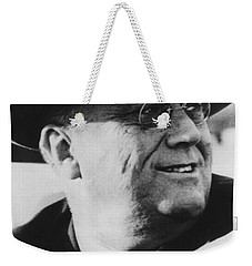 Weekender Tote Bag featuring the photograph President Franklin Roosevelt by War Is Hell Store