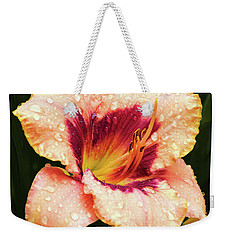 Weekender Tote Bag featuring the photograph Pretty Flower by Elvira Ladocki