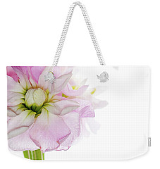 Weekender Tote Bag featuring the photograph Pretty In Pink by Rebecca Cozart