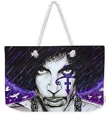 Weekender Tote Bag featuring the painting Prince by Darryl Matthews