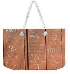 Prison Graffiti Weekender Tote Bag