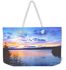 Puget Sound Sunset Weekender Tote Bag by Sean Griffin