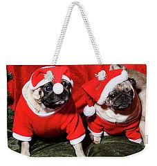Pugs Dressed As Father Christmas Weekender Tote Bag