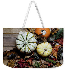 Weekender Tote Bag featuring the photograph Pumpkins by Rebecca Cozart