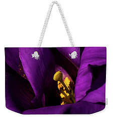 Purple And Yellow Weekender Tote Bag by Jay Stockhaus
