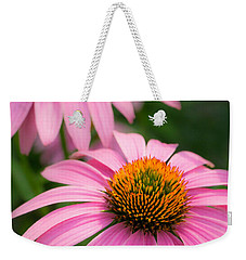 Weekender Tote Bag featuring the photograph Purple Coneflower by Jim Hughes