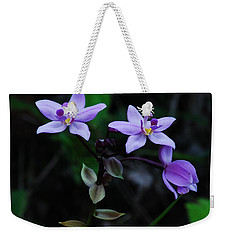 Purple Orchids 2 Weekender Tote Bag by Michael Peychich