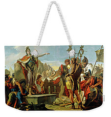 Queen Zenobia Addressing Her Soldiers Weekender Tote Bag