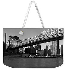 Weekender Tote Bag featuring the photograph Queensboro Bridge  by John Harding