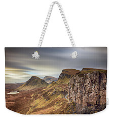 Weekender Tote Bag featuring the photograph Quiraing - Isle Of Skye by Grant Glendinning