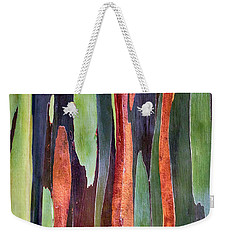 Weekender Tote Bag featuring the photograph Rainbow Eucalyptus by Susan Rissi Tregoning