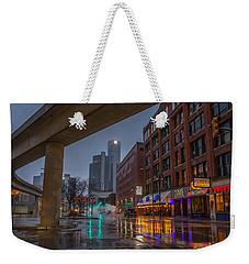 Rainy Night In Detroit  Weekender Tote Bag
