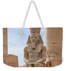 Weekender Tote Bag featuring the photograph Rameses by Silvia Bruno