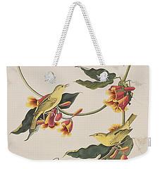 Rathbone Warbler Weekender Tote Bag by John James Audubon