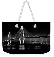 Weekender Tote Bag featuring the photograph Ravenel Bridge by Bill Barber