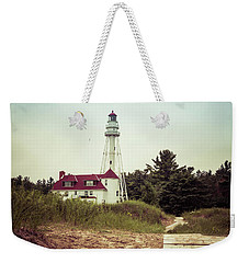 Weekender Tote Bag featuring the photograph Rawley Point Lighthouse by Joel Witmeyer