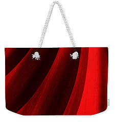 Red Chrysanthemum Dawn Rising Weekender Tote Bag