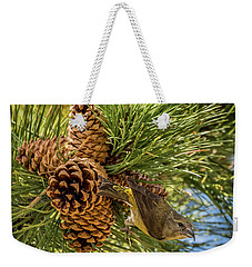 Red Crossbill Weekender Tote Bag by Michael Cunningham