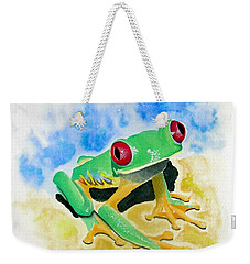 Red Eyed Tree Frog Weekender Tote Bag by Jimmy Smith