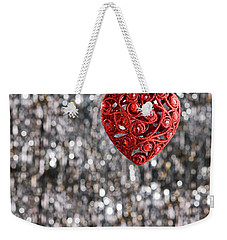 Weekender Tote Bag featuring the photograph Red Heart by Ulrich Schade