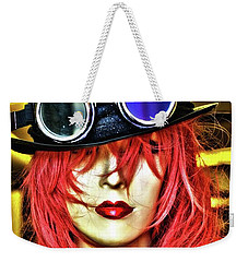 Weekender Tote Bag featuring the photograph Red by Newel Hunter