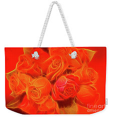 Red On Red Weekender Tote Bag by Linda Phelps