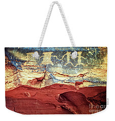 Red Rock Canyon Petroglyphs Weekender Tote Bag by Jim And Emily Bush