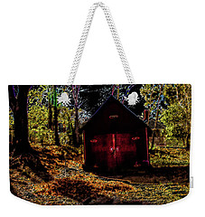 Red Shed Weekender Tote Bag
