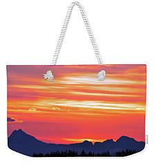 Red Sunrise Weekender Tote Bag