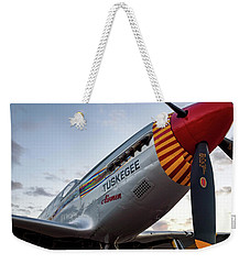 Red Tail At Dusk - 2017 Christopher Buff, Www.aviationbuff.com Weekender Tote Bag