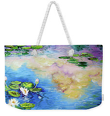 Reflections On A Waterlily Pond Weekender Tote Bag