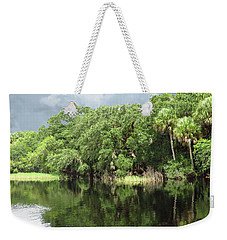 Weekender Tote Bag featuring the photograph Reflections by Rosalie Scanlon