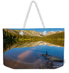 Weekender Tote Bag featuring the photograph Reflections by Steven Reed