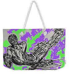 Weekender Tote Bag featuring the digital art Resting by Erika Chamberlin