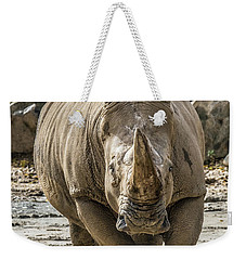 Rhino Walking Toward You Weekender Tote Bag
