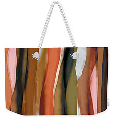 Weekender Tote Bag featuring the painting Ribbons by Bonnie Bruno