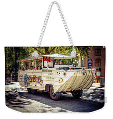 Weekender Tote Bag featuring the photograph Ride The Ducks by Spencer McDonald