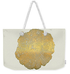 Rings Of A Tree Trunk Cross-section In Gold On Linen  Weekender Tote Bag