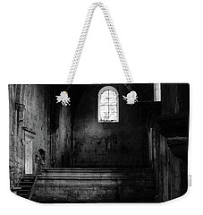 Rioseco Abandoned Abbey Nave Bw Weekender Tote Bag by RicardMN Photography