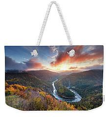 River Meander At Sunrise Weekender Tote Bag