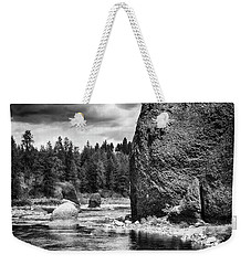 Weekender Tote Bag featuring the photograph Riverside State Park by Hugh Smith