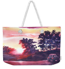 Weekender Tote Bag featuring the painting Road To Fargo by Marilyn Jacobson