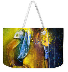 Robert Plant 01 Weekender Tote Bag by Miki De Goodaboom